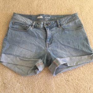 Vans denim shorts, 'boyfriend' fit